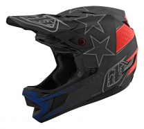 Troy Lee Designs - Kask D4 CF Freedom Black Red